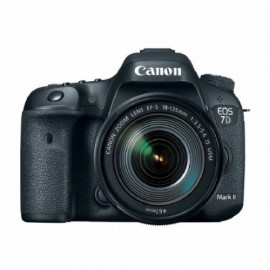Canon EOS 7D Mark II + lente 18-135mm frontal